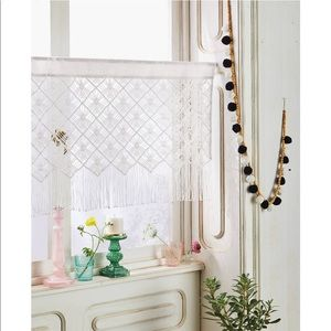 OPALHOUSE NWOT macrame sheer window valance
